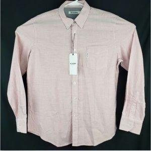 Ben Sherman Mens Red White Button Up Shirt Sz XL